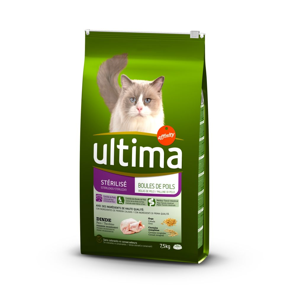 Ultima Cat Sterilized Hairball - Sparpaket:2 x 7.5 kg von Affinity Ultima