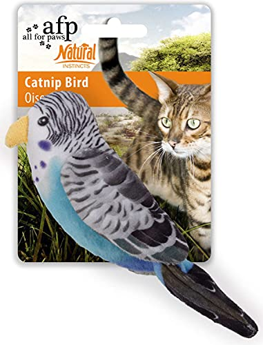 ALL FOR PAWS Katzenspielzeug Vogel mit Katzenminze Natural Instincts - Catnip Bird blau von ALL FOR PAWS