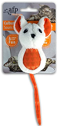 ALL FOR PAWS Modern Cat - Culbuto Mouse - Katzenspielzeug - orange von ALL FOR PAWS