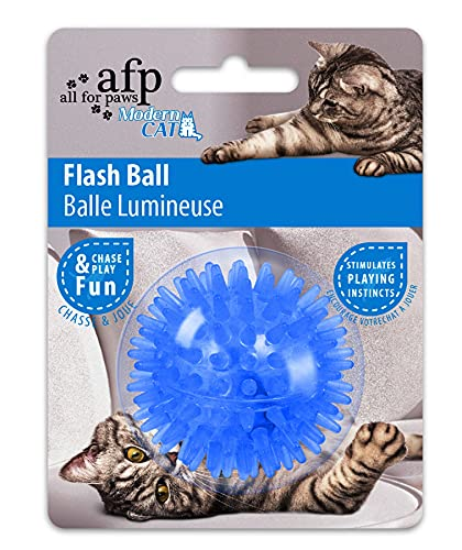 ALL FOR PAWS Modern Cat - Flash Ball - Katzenspielzeug - blau von ALL FOR PAWS