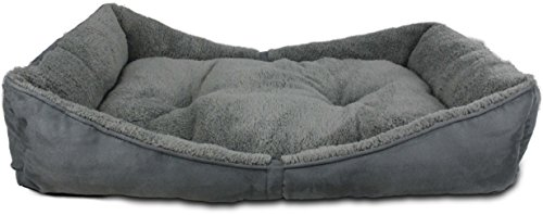ALL FOR PAWS afp5389 Bett für Hunde Bolster Lamb Dog, S, grau von ALL FOR PAWS