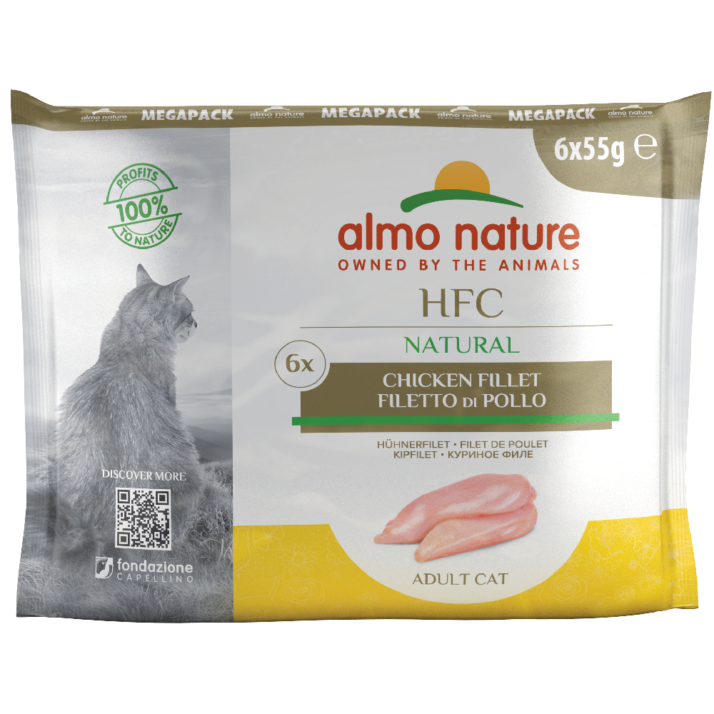 12 x 55 g Sparpaket Almo Nature Classic Pouch - Hühnerfilet von Almo Nature Classic