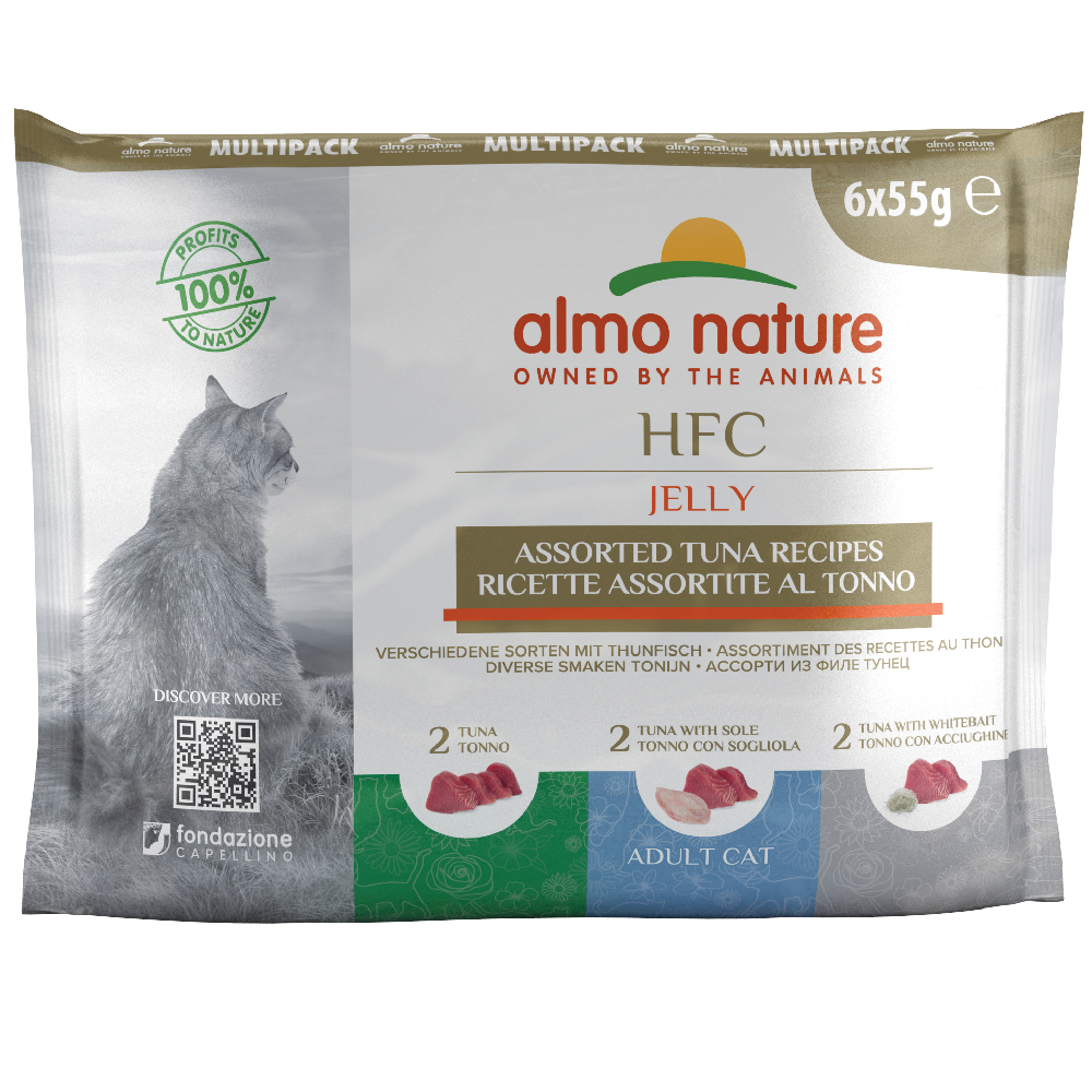 12 x 55 g Sparpaket Almo Nature Classic Pouch - Huhn & Thunfisch Mix von Almo Nature Classic