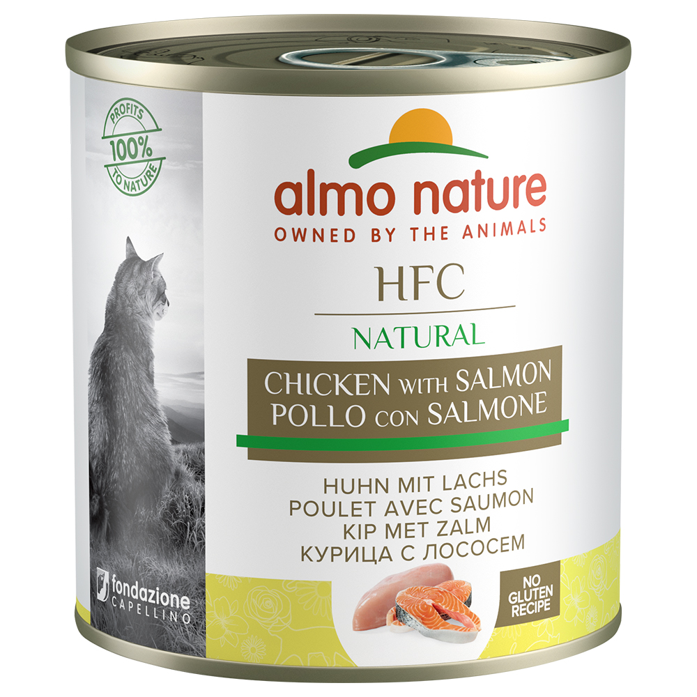 Sparpaket Almo Nature HFC Natural 24 x 280 g - Huhn & Lachs von Almo Nature Classic