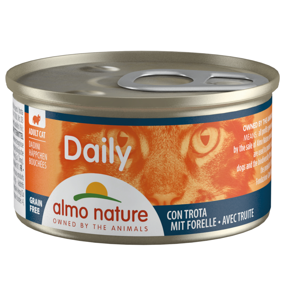 6 x 85 g Almo Nature Daily Menu Probierpaket - Häppchen Mix (3 Sorten) von Almo Nature Daily Menu