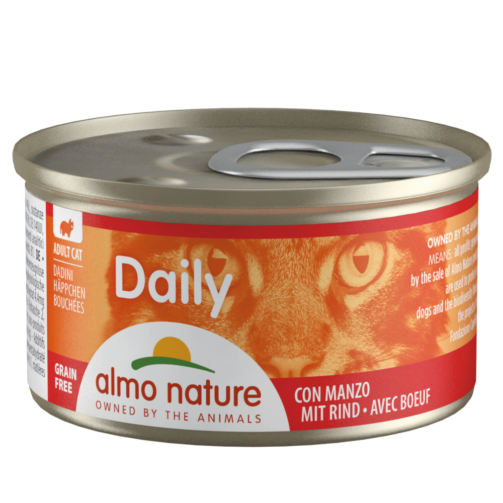 6 x 85 g Almo Nature Daily Menu Probierpaket - Häppchen Mix (2 Sorten) von Almo Nature Daily Menu