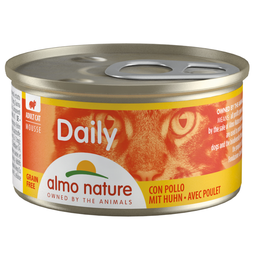 6 x 85 g Almo Nature Daily Menu Probierpaket - Mousse Thunfisch/Huhn + Huhn (2 Sorten) von Almo Nature Daily Menu