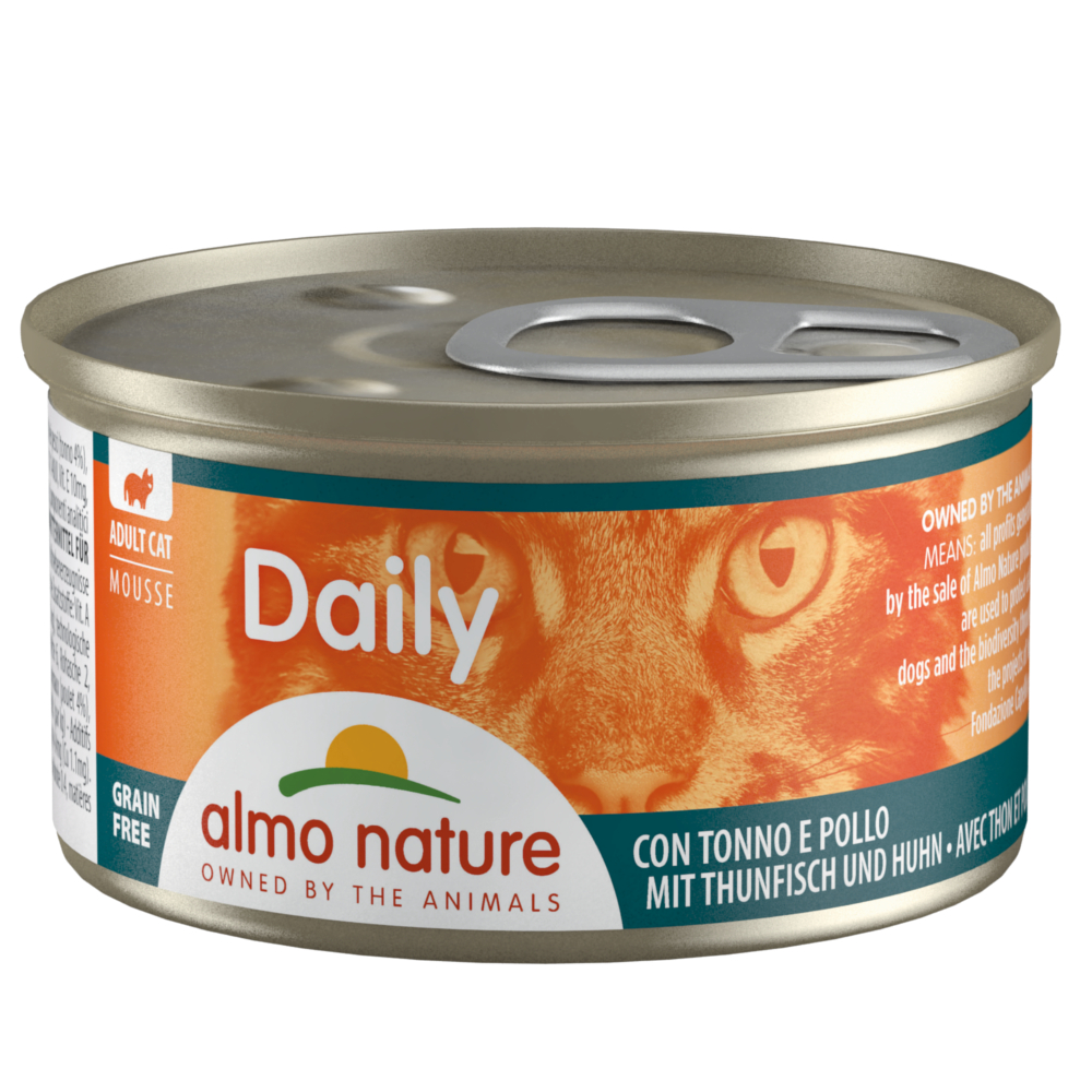 Almo Nature Daily Menu 6 x 85 g - Mousse mit Thunfisch und Huhn von Almo Nature Daily Menu