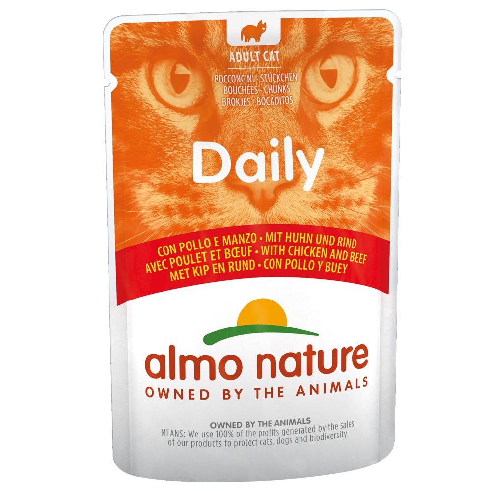 Almo Nature Daily Menu Sparpaket 24 x 70 g - Huhn & Rind von Almo Nature Daily Menu