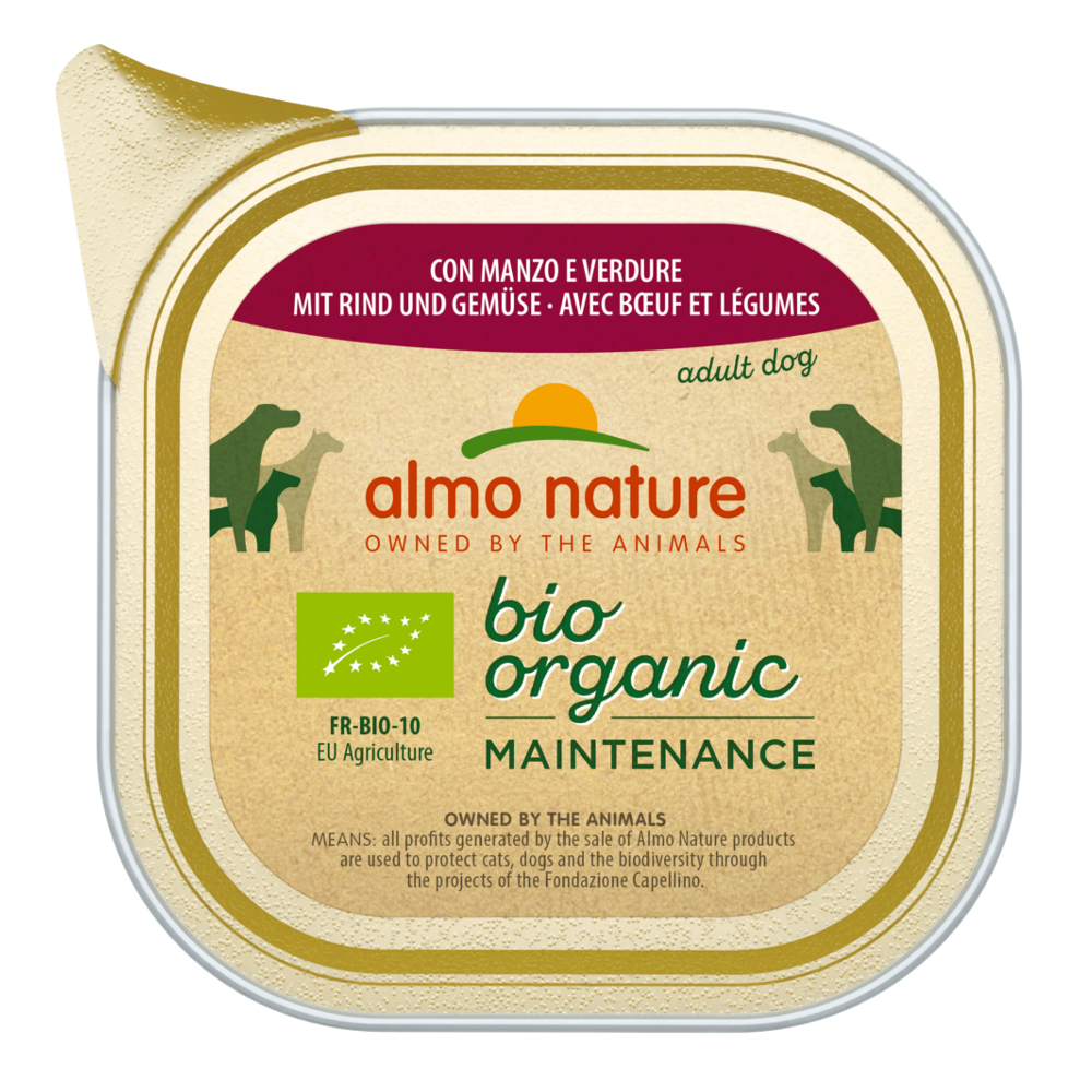 Almo Nature BioOrganic Maintenance 12 x 100 g - Mix 1: Kalb & Gemüse + Rind & Gemüse von Almo Nature Daily Menu