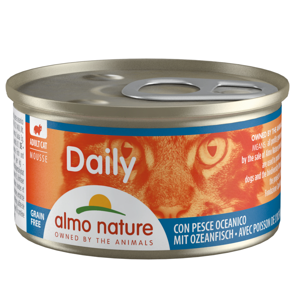 Sparpaket Almo Nature Daily Menu 24 x 85 g - Mix Mousse Fisch (2 Sorten) von Almo Nature Daily Menu