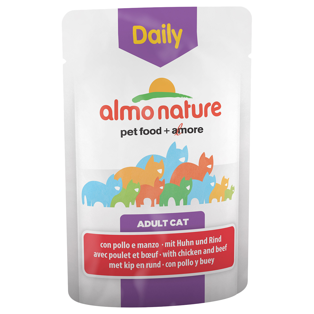 Sparpaket Almo Nature Daily Menu Pouch 12 x 70 g - Mix I (2 Sorten) von Almo Nature Daily Menu