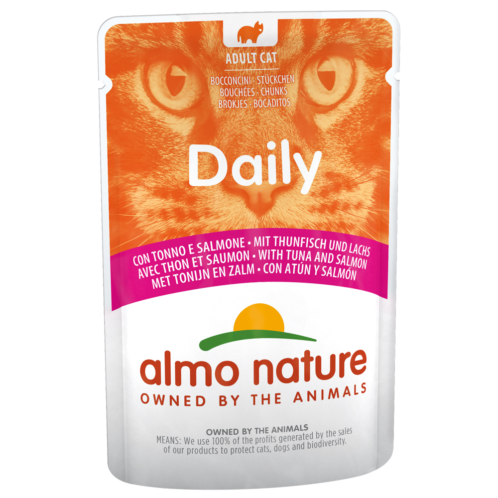 Sparpaket Almo Nature Daily Menu Pouch 12 x 70 g - Thunfisch & Lachs von Almo Nature Daily Menu