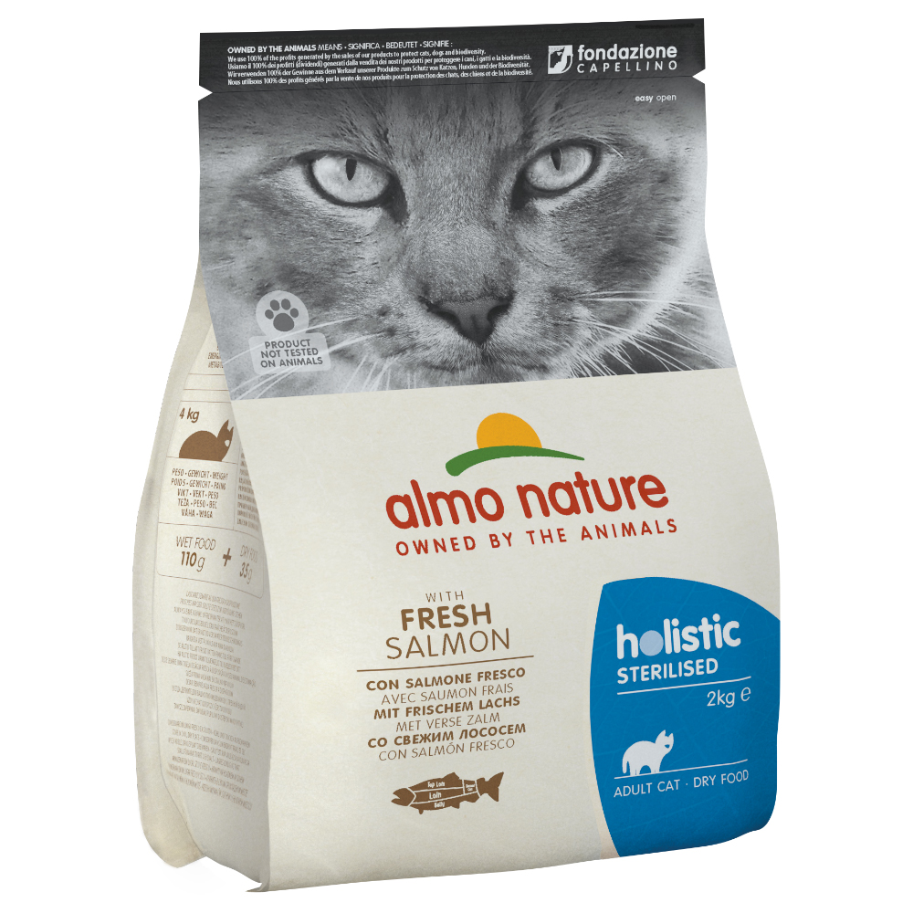 Almo Nature Holistic Sterilised Lachs & Reis - Set: 2 x 2 kg von Almo Nature Holistic