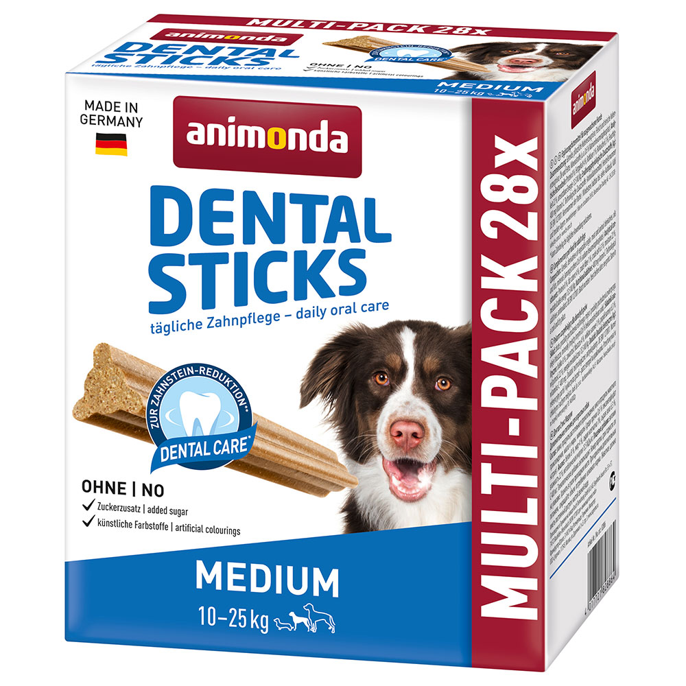 Animonda Multipack Dental Sticks Medium 4 x 180 g - 4 x 180 g (28 Sticks) von Animonda