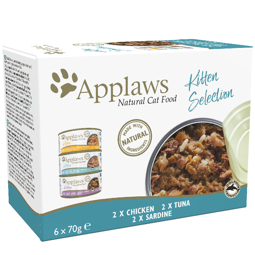 Sparpaket Applaws Kitten 24 x 70 g - Mix Huhn, Thunfisch, Sardine von Applaws
