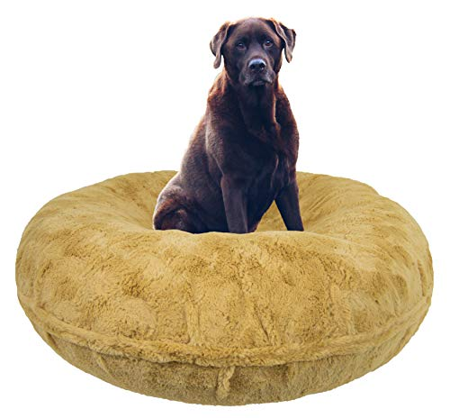 BESSIE AND BARNIE Signature Honeymoon Luxury Shag Extra Plush Faux Fur Bagel Pet/Dog Bed (Multiple Sizes) von BESSIE AND BARNIE