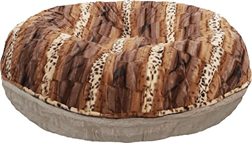"BESSIE AND BARNIE Signature Natural Beauty/Wild Kingdom Extra Plush Faux Fur Bagel Pet/Dog Bed (Multiple Sizes), XL - 50"" von BESSIE AND BARNIE"