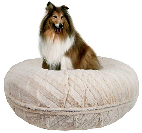 "BESSIE AND BARNIE Signature Natural Beauty Extra Plush Faux Fur Bagel Pet/Dog Bed (Multiple Sizes), S- 30"" von BESSIE AND BARNIE"