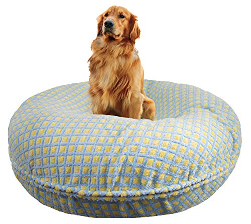 "BESSIE AND BARNIE Signature Robin Egg Luxury Extra Plush Faux Fur Bagel Pet/Dog Bed (Multiple Sizes), XS - 24"" von BESSIE AND BARNIE"
