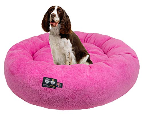 BESSIE AND BARNIE Ultra Plush Deluxe Comfort Pet Dog & Cat Pink Snuggle Bed (Multiple Sizes) - Machine Washable, Made in The USA, Reversible, Durable Soft Fabrics von BESSIE AND BARNIE