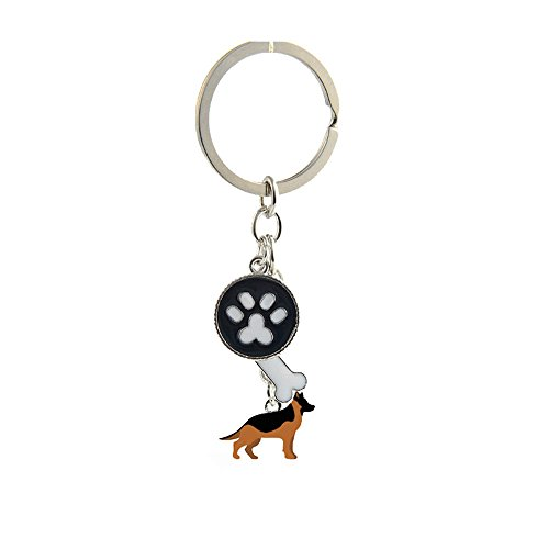 bbeart® Dog Keyring Keychain, Schlüsselanhänger aus kleinem Hundemetall mit Schlüsselbund Keyring Key Tags Car Keyring Pocket Charm German Shepherd Dog von BbearT