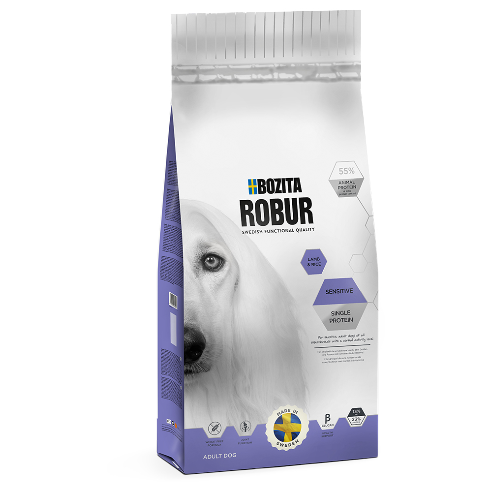 Bozita Robur Sensitive Single Protein Lamb & Rice - Sparpaket 2 x 15 kg von Bozita Robur
