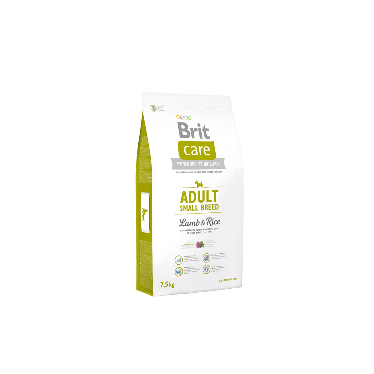 Brit Care Dog Adult Small Breed Lamb & Rice 7,5kg von Brit