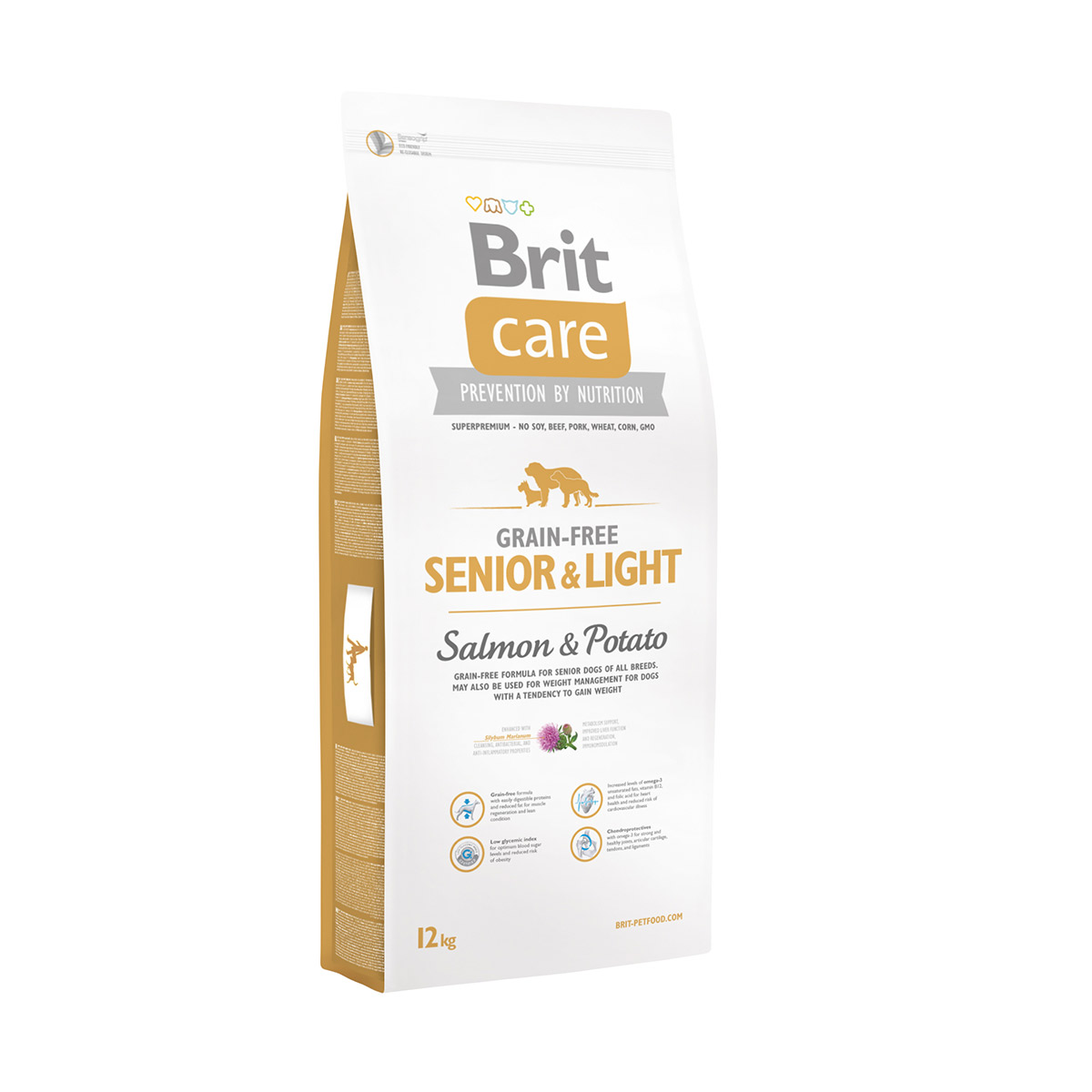 Brit Care Dog Grain-free Senior & Light Salmon & Potato 2x12kg von Brit
