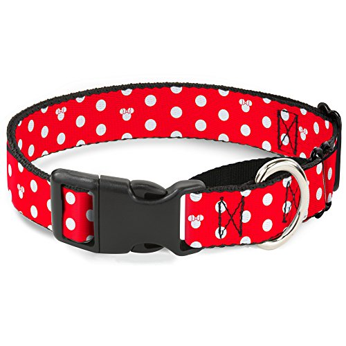 "Buckle Down ""Minnie Mouse Polka Dot/Mini Silhouette Martingale Hundehalsband, rot/weiß, 3,8 cm/40,6-58,4 cm/mittel von Buckle Down"