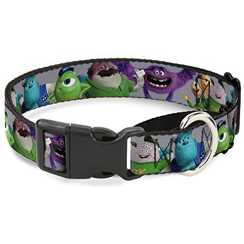 "Buckle Down ""Monsters University Charakter Lineup Martingale Hundehalsband, grau, 2,5 cm Wide-fits 38,1-66 cm Neck-Large von Buckle Down"