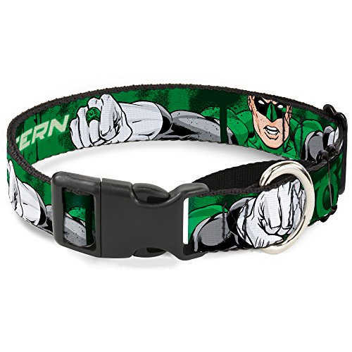 Buckle-Down mgc-wgl002-s Green Lantern Martingale Hundehalsband, 2,5 cm Wide-fits 22,9–38,1 cm Neck-small von Buckle-Down