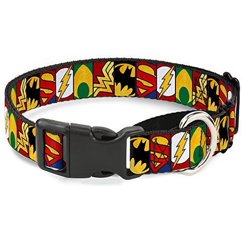 Buckle-Down mgc-wjl078-m Justice League Martingale Hundehalsband, 2,5 cm Wide-fits 27,9–43,2 cm Neck-medium von Buckle-Down