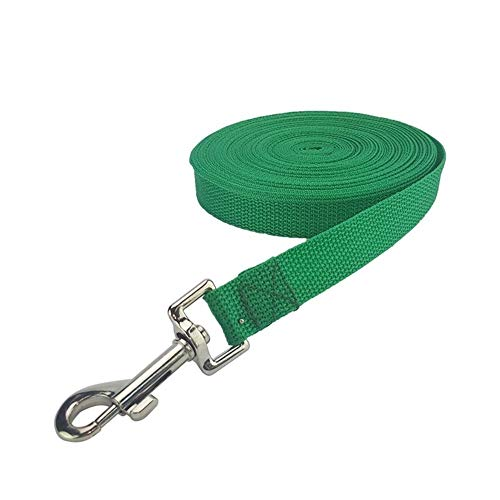 CHENGTAO Pet Dog Rope Strapazierfähige Nylonleine Hundeleine for Große Kleine Hunde Katzen Outdoor Walking Pets Supplies 5 Farben Trainingsleine (Color : Green, Size : XL) von CHENGTAO