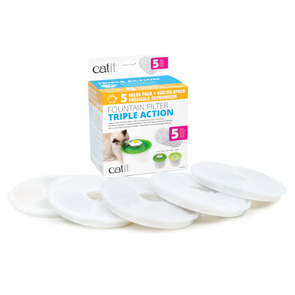 Catit 2.0 Flower Fountain - 5er Set Catit 2.0 TRIPLE ACTION Filter von Catit