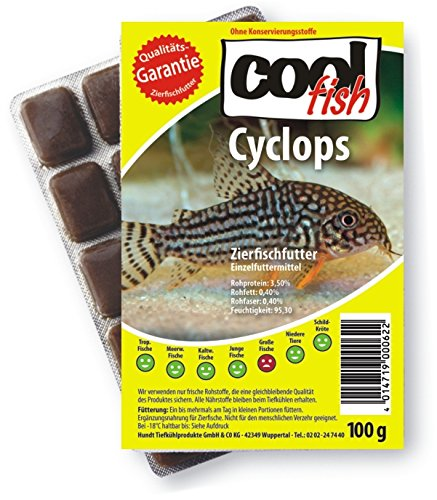 Cool Fish Cyclops, 15 x 100g-Blister, Fisch-Frostfutter, Aquarium, Aquaristik, Fischfutter von Cool Fish