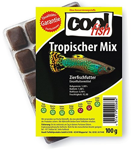 Cool Fish Tropischer Mix, 30 x 100g-Blister, Fisch-Frostfutter, Aquarium, Aquaristik, Fischfutter von Cool Fish