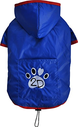 Doggy Dolly DR053 Hunderegenshirt, Größe: XS, 2 beinig blau von Doggydolly