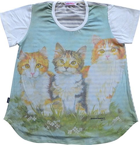 Doggy Dolly TH005 T-Shirt Tiermotiv, Katzen von Doggydolly