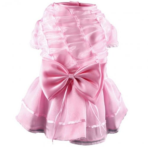Doggydolly Hunde-Abendkleid, Brautjungfernkleid rosa von Doggydolly