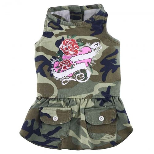 Doggydolly Hundekleid Rose Camouflage grün von Doggydolly