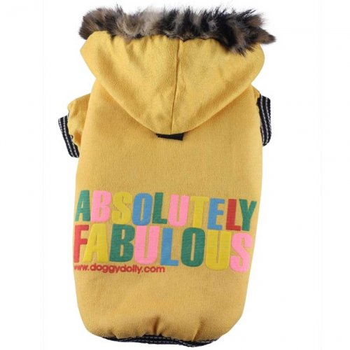 Doggydolly Hundewinterjacke Absolutely gelb von Doggydolly