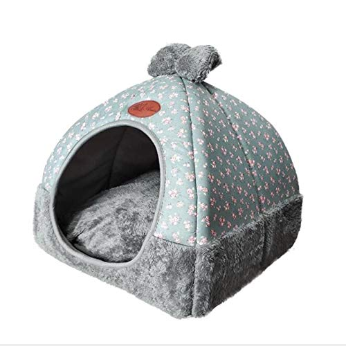 ERSHI -Hundebett & Sofa Warming Dog House weiche Hunde Nest Winter-Zwinger for Welpen-Katze-Plus Size Small Medium Hund Haustier (Color : Grey, Size : L) von ERSHI