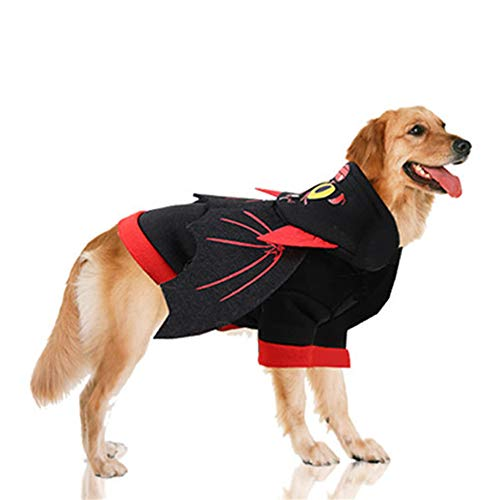 Fansu Halloween Kostüm Hund Haustier Hund Katze Halloween Kostüme, Hoodie Einstellbare Warme Kleidung Netter Pullover Hundepullover Party Cosplay Dekoration (XS,Bat) von Fansu