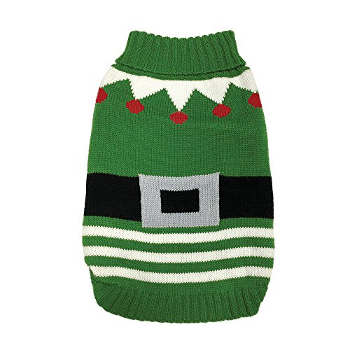 FouFou Dog 160.304,5 cm Elf Ugly Sweater für Hunde, Medium von FouFou Dog