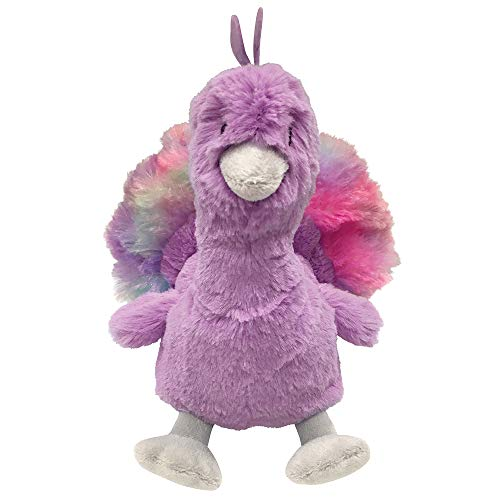 FouFou Dog 87031 Pastel Pals Fuzzy Plush Toy Large - Peacock Hundespielzeug von FouFou Dog
