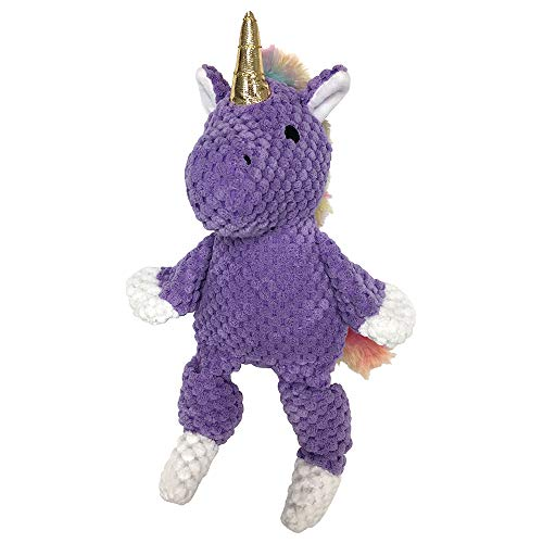 FouFou Dog 87047 Rainbow Bright Knotted Toy Small - Unicorn (Purple) Hundespielzeug von FouFou Dog