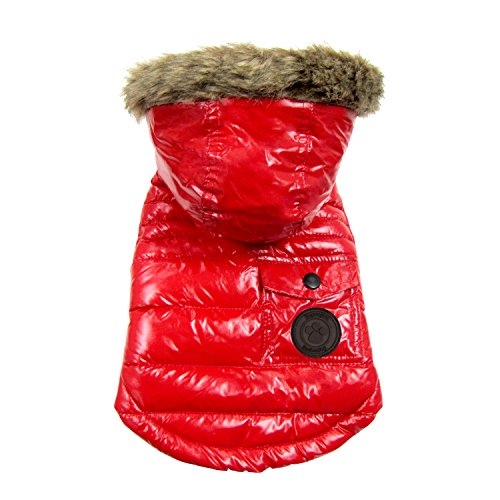 FouFou Dog FFD 61061 2016 Winter Coat Hundemantel, L, rot von FouFou Dog