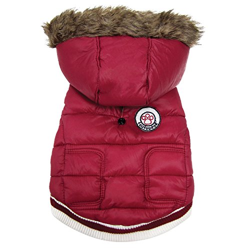 FouFou Dog FFD 62522 Expedition Parka Hundemantel, S, rot von FouFou Dog