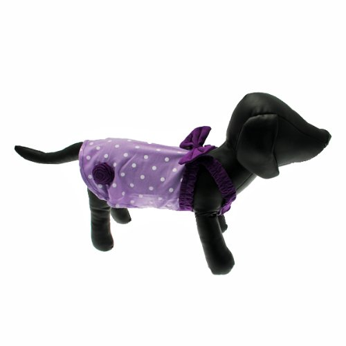 FouFou Dog FFDMSPDD 57056 Miss Polka Dot Dress Lilac XS Hundekleid, 450 g von FouFou Dog